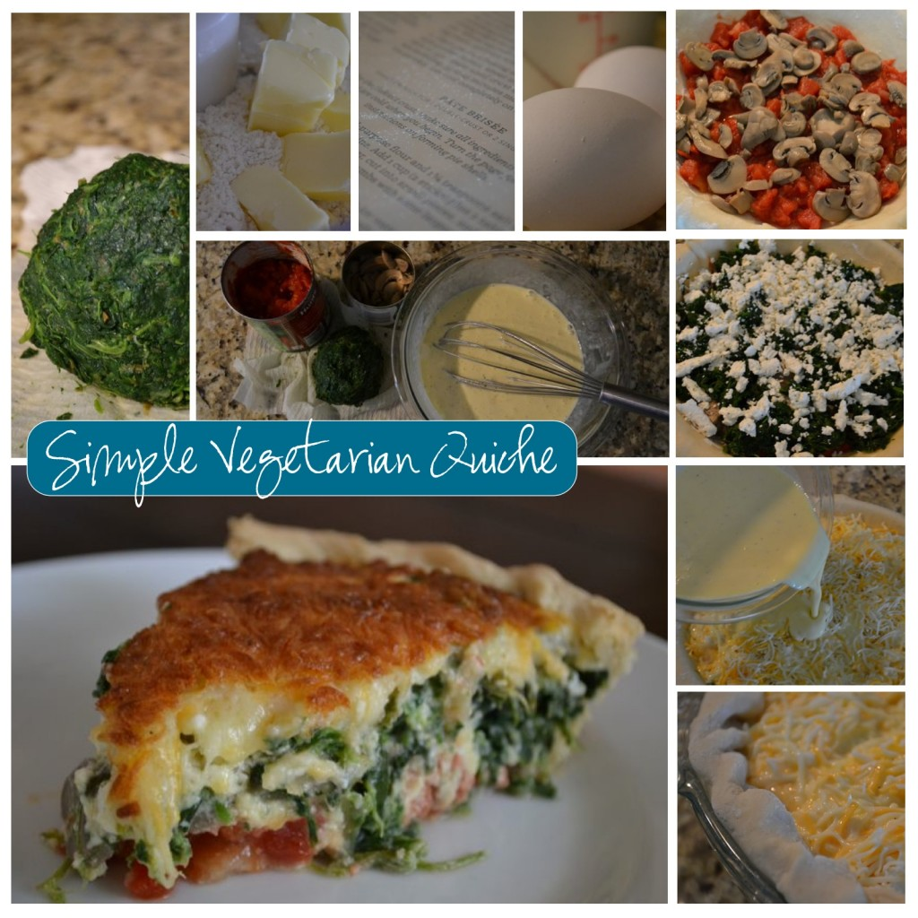 Easy vegetarian quiche recipe