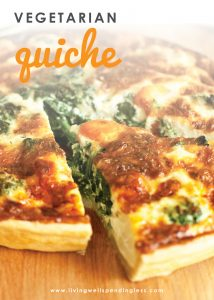 Need a delicious and easy recipe? This simple vegetarian quiche is a quick fix packed with fresh or frozen veggies which makes it a great stockpile meal!