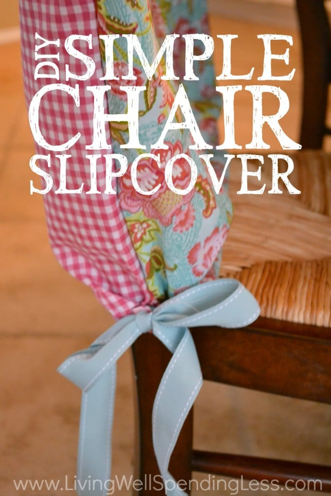 Change it up and add a little pizzaz to your chairs with this DIY Simple Chair Slipcover Tutorial!