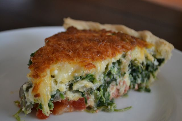This dough recipe works great for a vegetarian quiche.
