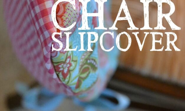 DIY Simple Chair Slipcover