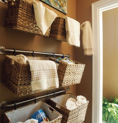 How to Organize Towels and Other Large Bathroom Items