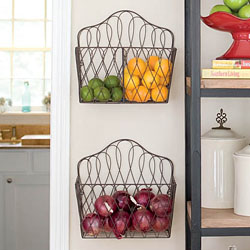Fruit and vegetable organizers never looked so fancy!