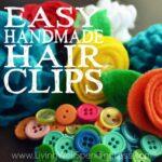 Easy Handmade Hair Clips Square