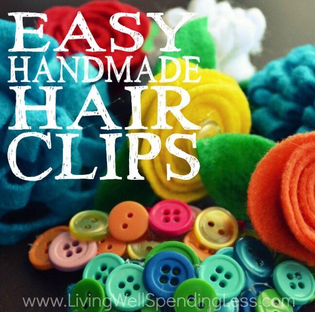 Easy Handmade Hair Clips