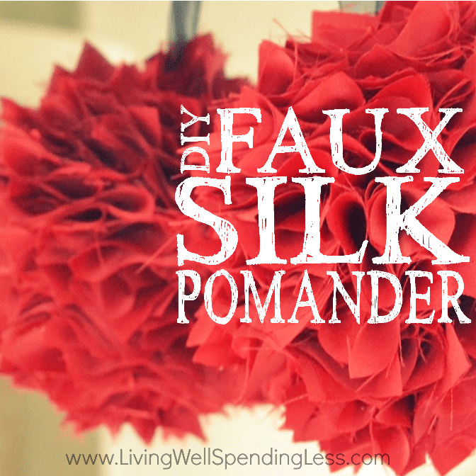 Faux Silk Pomander Square 2