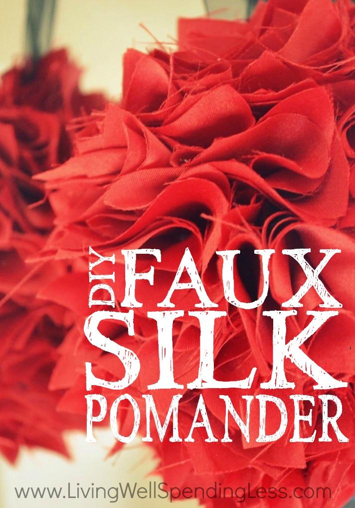 Faux Silk Pomander