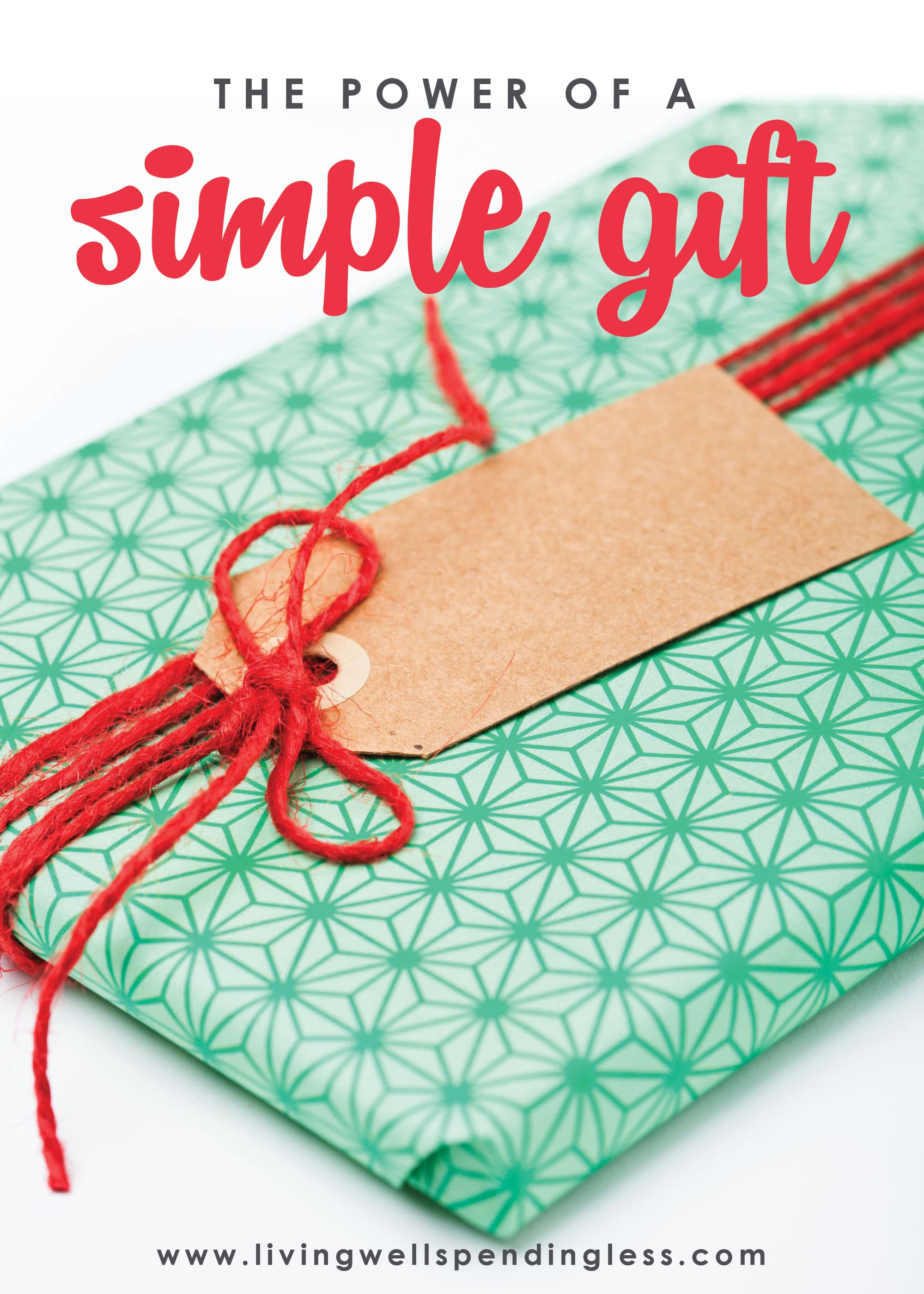 There is power in giving simple gifts.