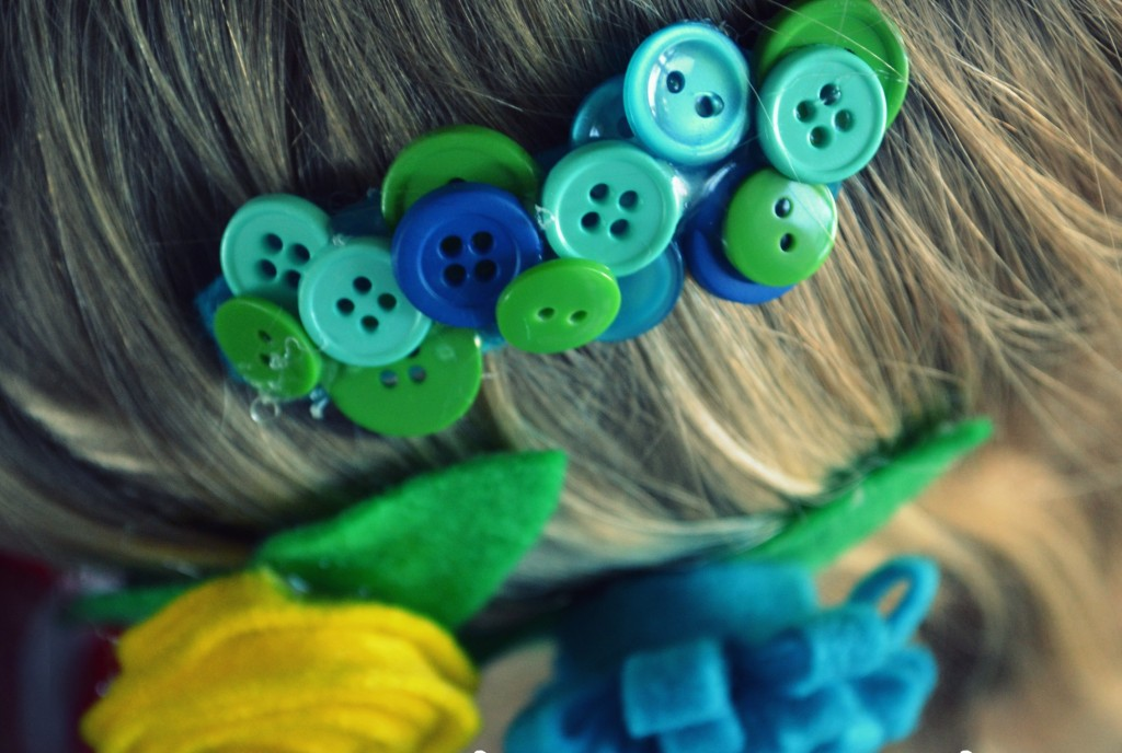 Once complete, show off your homemade flower clips on any type of hair.