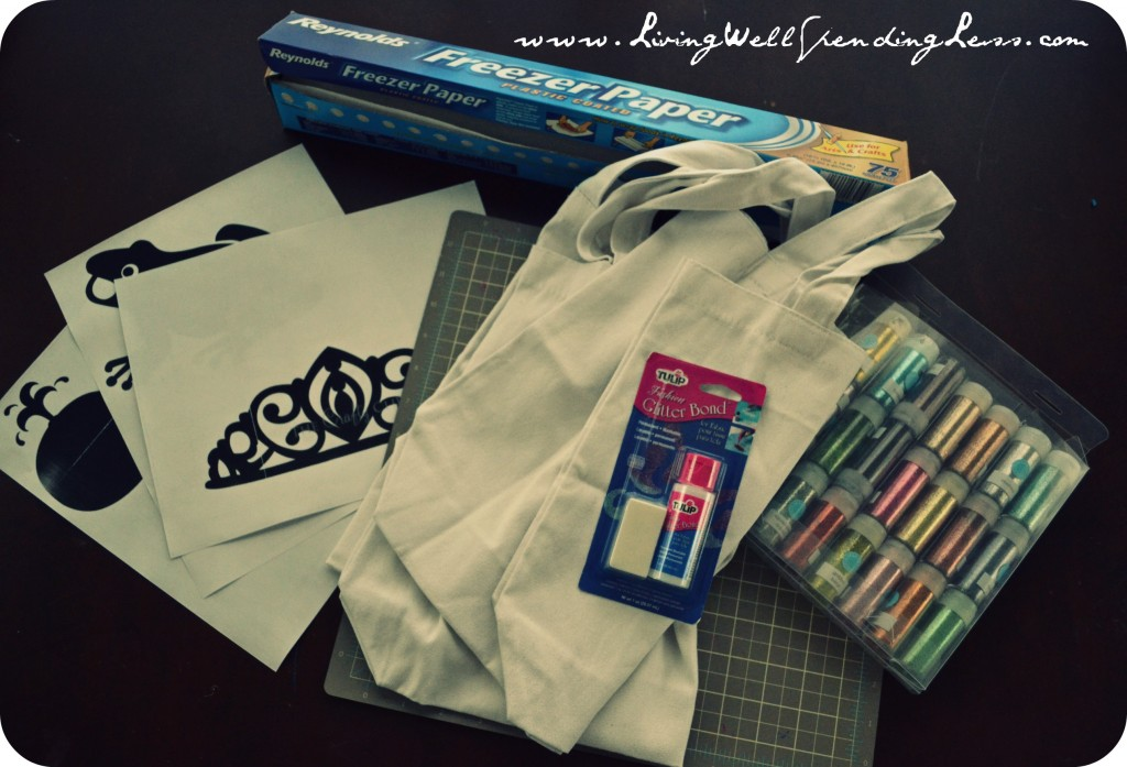 Supplies you'll need to make your own tote bag designs