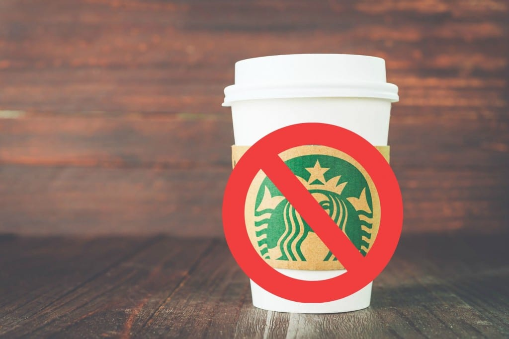 Stop spending money on things like Starbucks to live a simpler life.