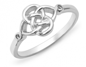 This silver Celtic knot ring is gorgeous and a great deal!