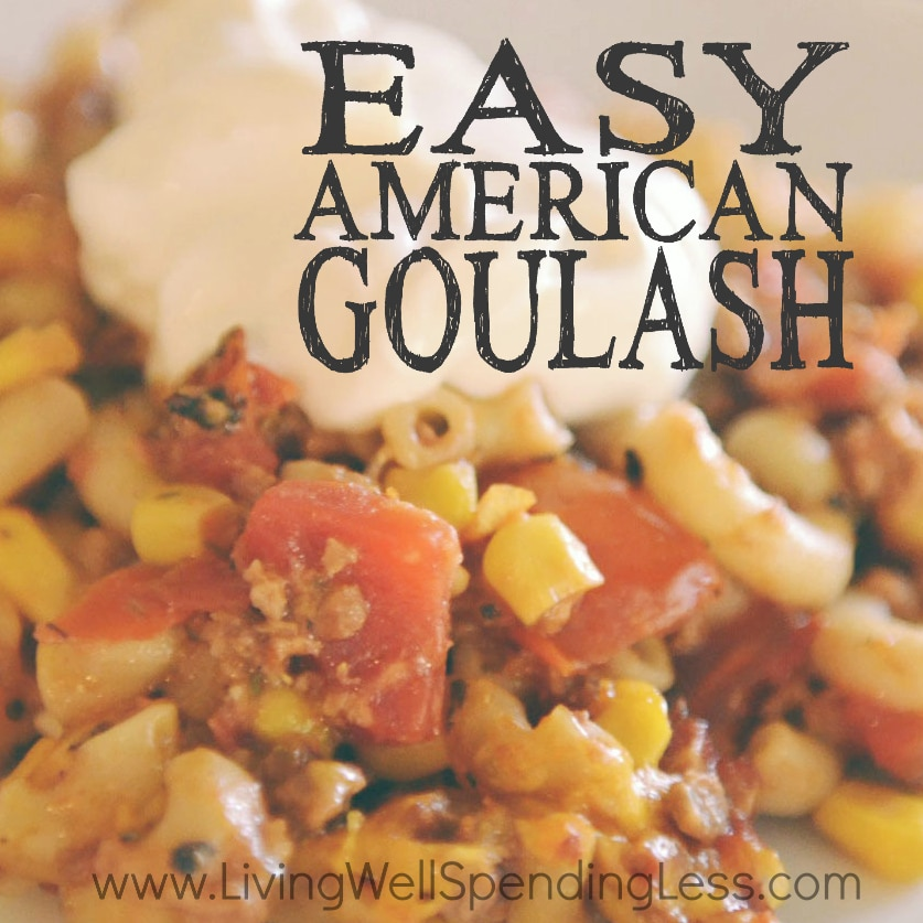 Easy pasta goulash recipes