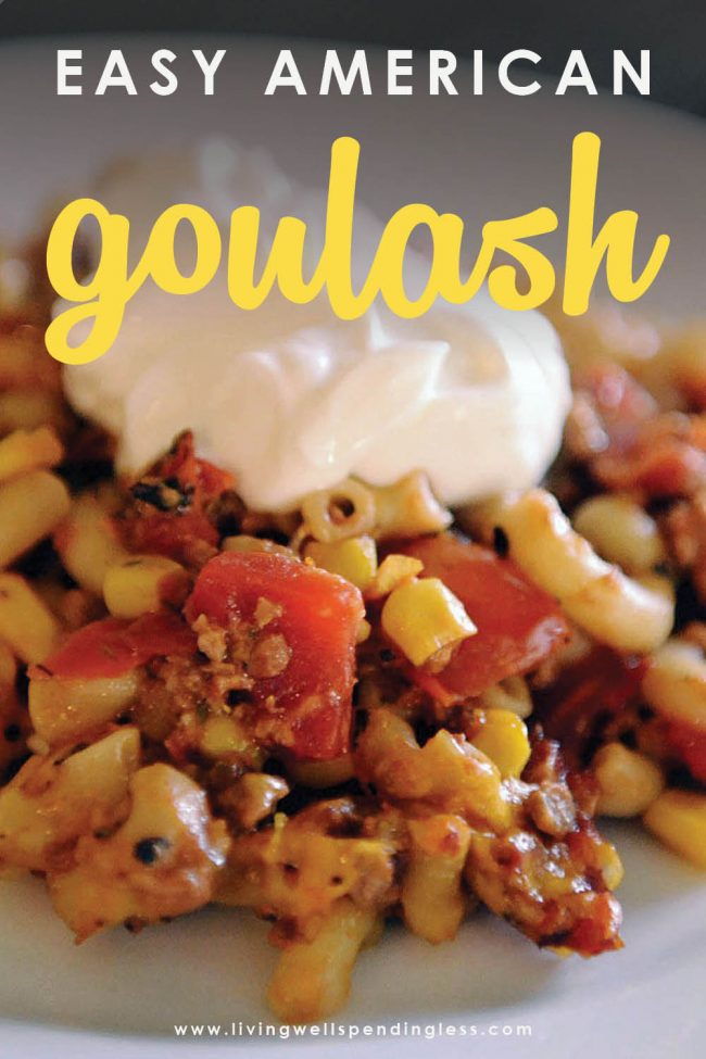 Need a quick & easy meal that you can make from ingredients already in your pantry? This super easy vegetarian goulash comes together in just 30 minutes!
