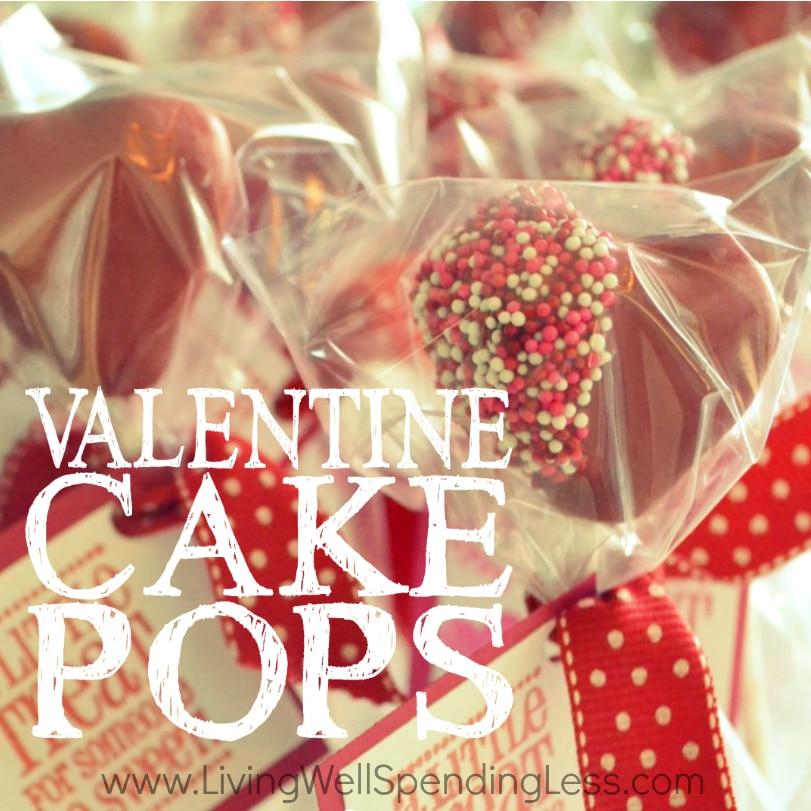 Valentine S Day Heart Shaped Cake Pops Living Well Spending Less