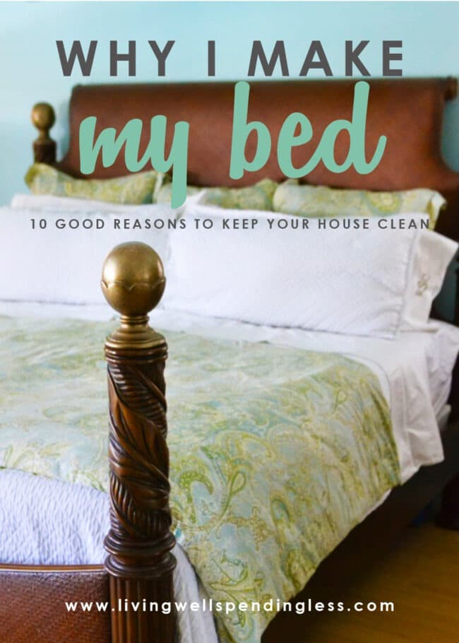 Do you ever wonder what's the point of keeping a clean house? Here's how to find motivation and why I make my bed every day (even if I barely have time).