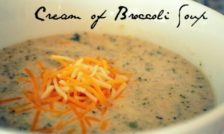 Cheesy Cream of Broccoli Soup