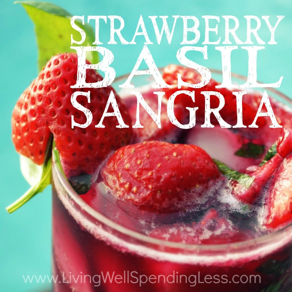 Strawberry Basil Sangria | Sangria Recipe | How to Make Strawberry Basil Sangria | Summer Drinks | Delicious Strawberry Basil Sangria