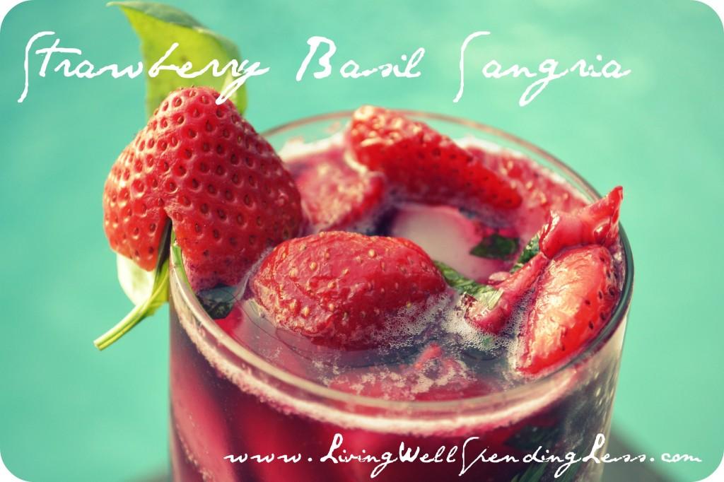 Strawberry Basil Sangria | How to Make Sangria | Easy Sangria Recipe