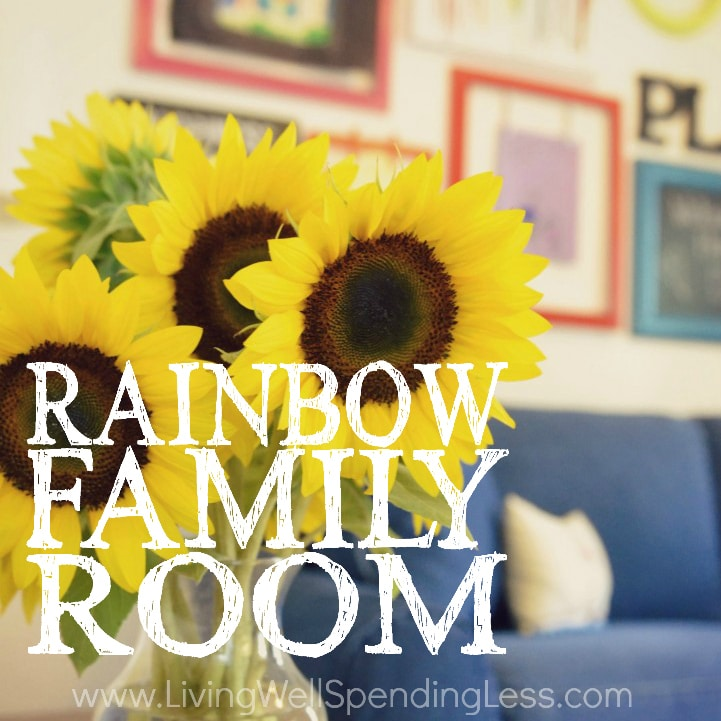 Rainbow Family Room | Kids Playroom Decorating Ideas | DiY Family Room Decor | Family Room Designs | Decorating Ideas for Family Rooms