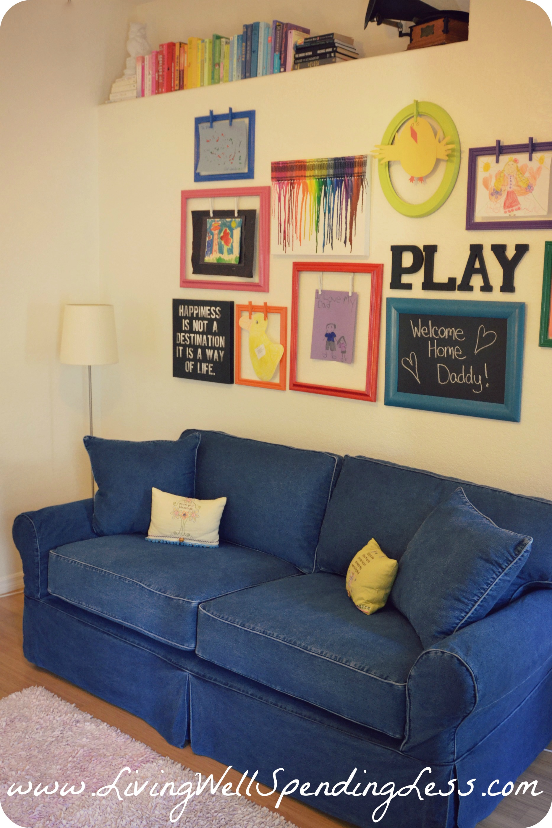 Rainbow family room kids playroom decorating ideas diy family room - Playroom decorating ideas ...
