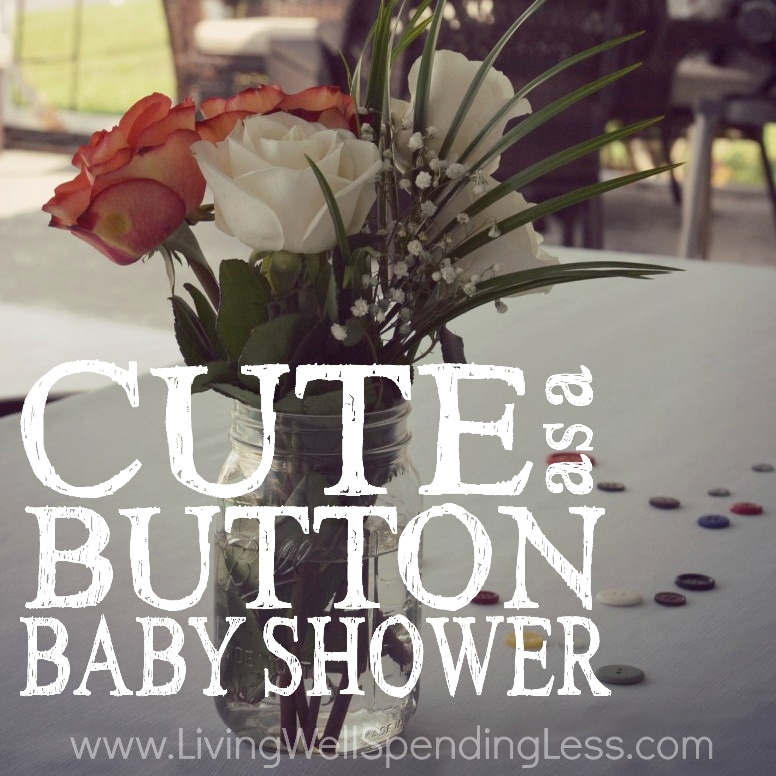 Cute as a Button Baby Shower Square 1