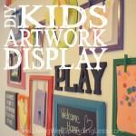 DIY Kids Artwork Display Square