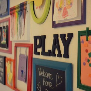 Need a practical (and pretty) solution for all those masterpieces your kids keep bringing home? This fun DIY kids artwork display is not only easy to make, but adds a fantastic pop of color to any wall. Get detailed instructions for all 3 projects (the frames, the chalkboard, & the melted crayon art), plus a fail proof tutorial for how to hang a gallery wall!