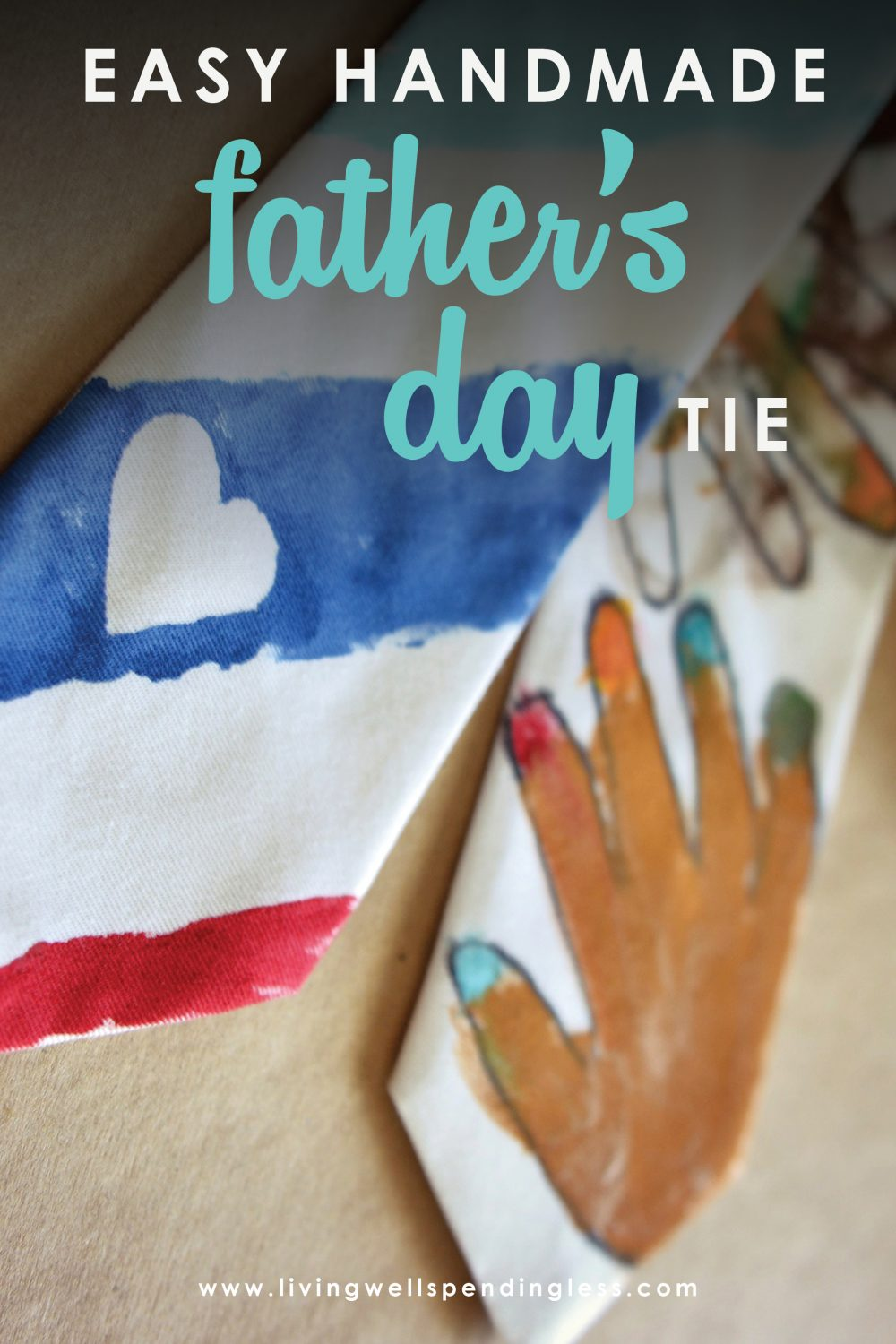 Looking for a special Father's Day gift? This handmade Father's Day is the perfect gift for dad with a personal touch from your kiddos!