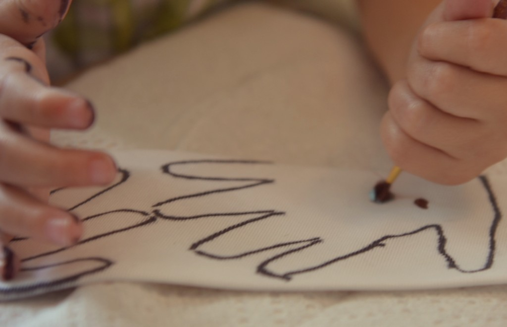 Have your kids trace their hands in fill in the trace with paint for a personal touch