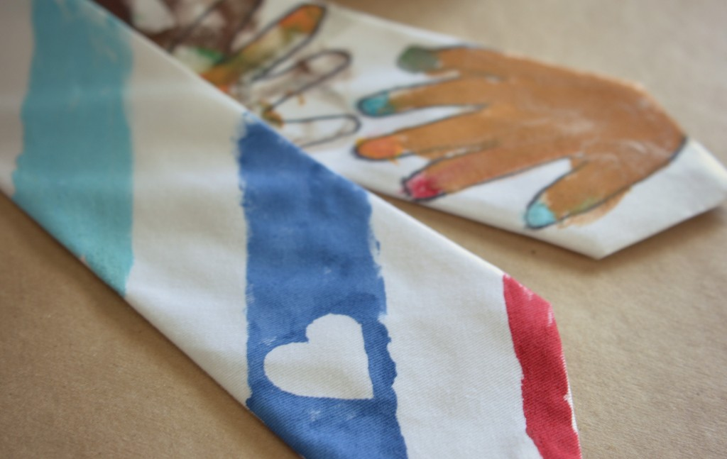 These adorable handmade father's day ties are special gifts fathers will be proud to wear