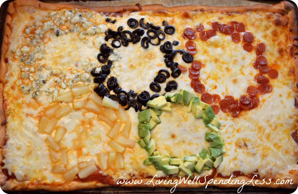 Olympic Ring Pizza