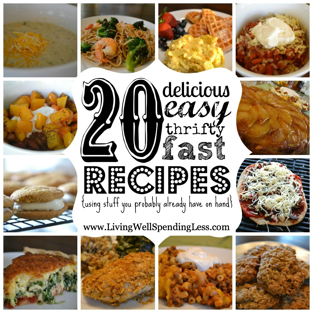 These 20 recipes are easy, fast, and delicious.