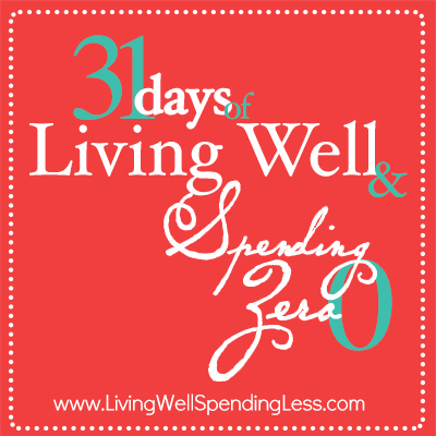 31 Days of Living Well & Spending Zero. Freeze your spending. Change Your Life. Awesome way to reset your spending patterns or kick-start your budget!