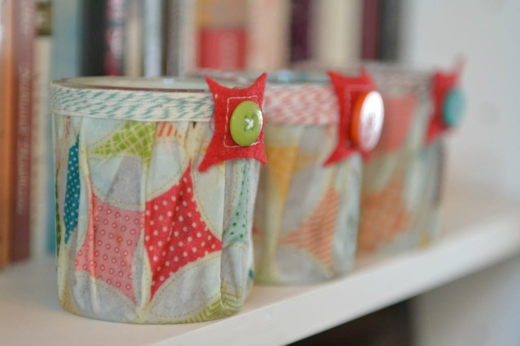 This easy DIY Fabric-Covered Candle makes a great gift!