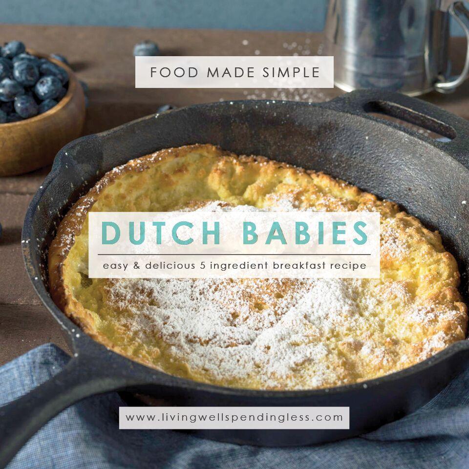 Homemade Dutch Babies | Homemade Dutch Babies Recipe | How to Make Dutch Babies | Dutch Babies Recipe | Easy Breakfast Recipe