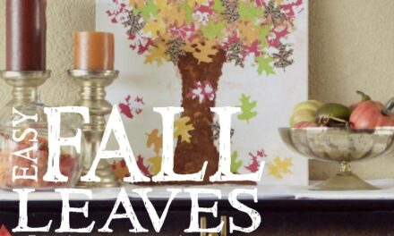 DIY Fall Leaves Canvas