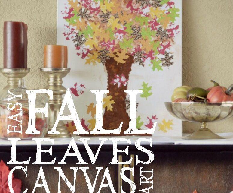 DIY Fall Leaves Canvas
