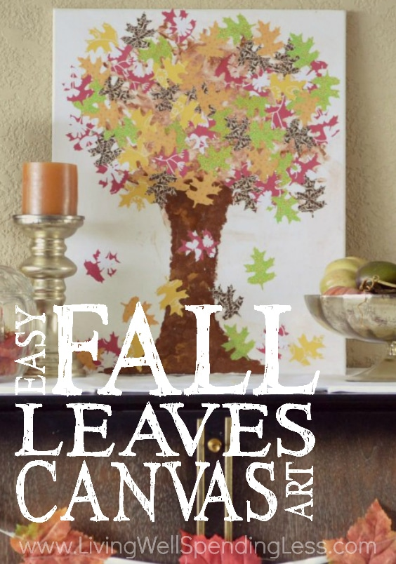 DIY Fall Leaves Canvas Art | Easy DIY | Kids Autumn Art Project | Diy Fall Crafts | Fall Leaf Crafts | DIY Decorating Projects with Leaves | Real Leaves on Canvas