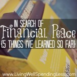 In Search of Financial Peace {5 Things I've Learned So Far}