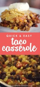 This family pleasing quick & easy taco recipe whips up in just 15 minutes, and is ready to eat in just 45! Great go-to meal for busy weeknights.