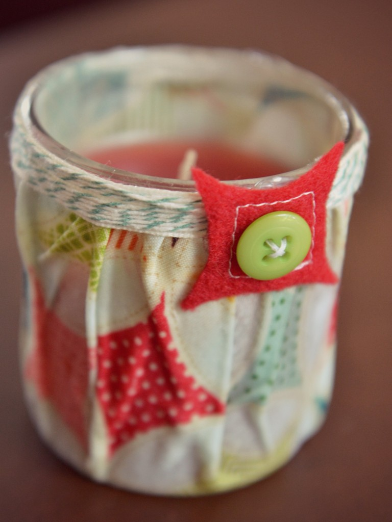 There are so many interesting options when creating an easy DIY Fabric-Covered Candle!