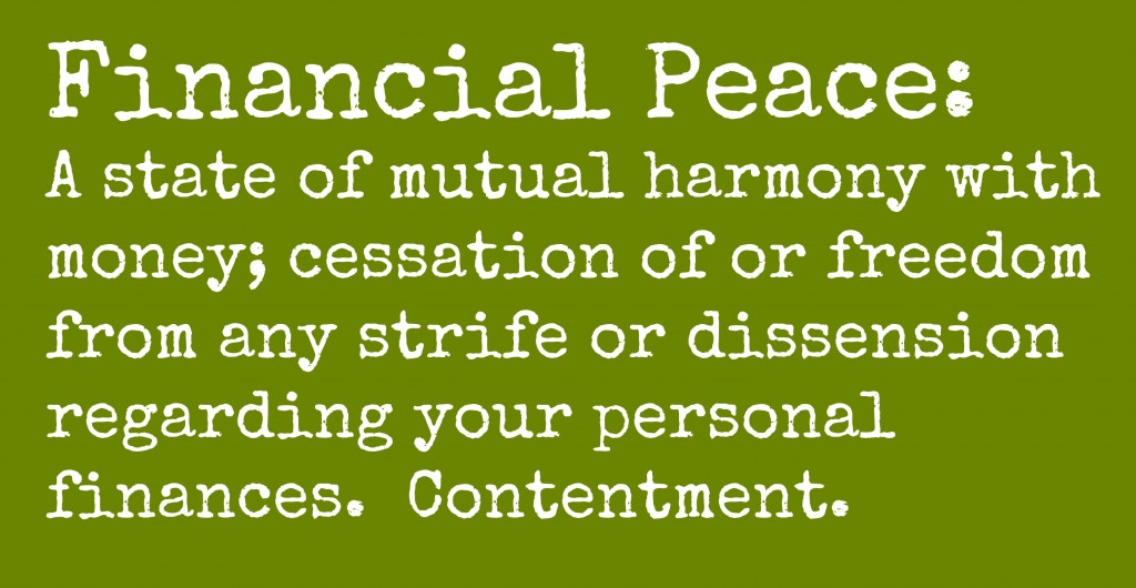 What is financial peace?