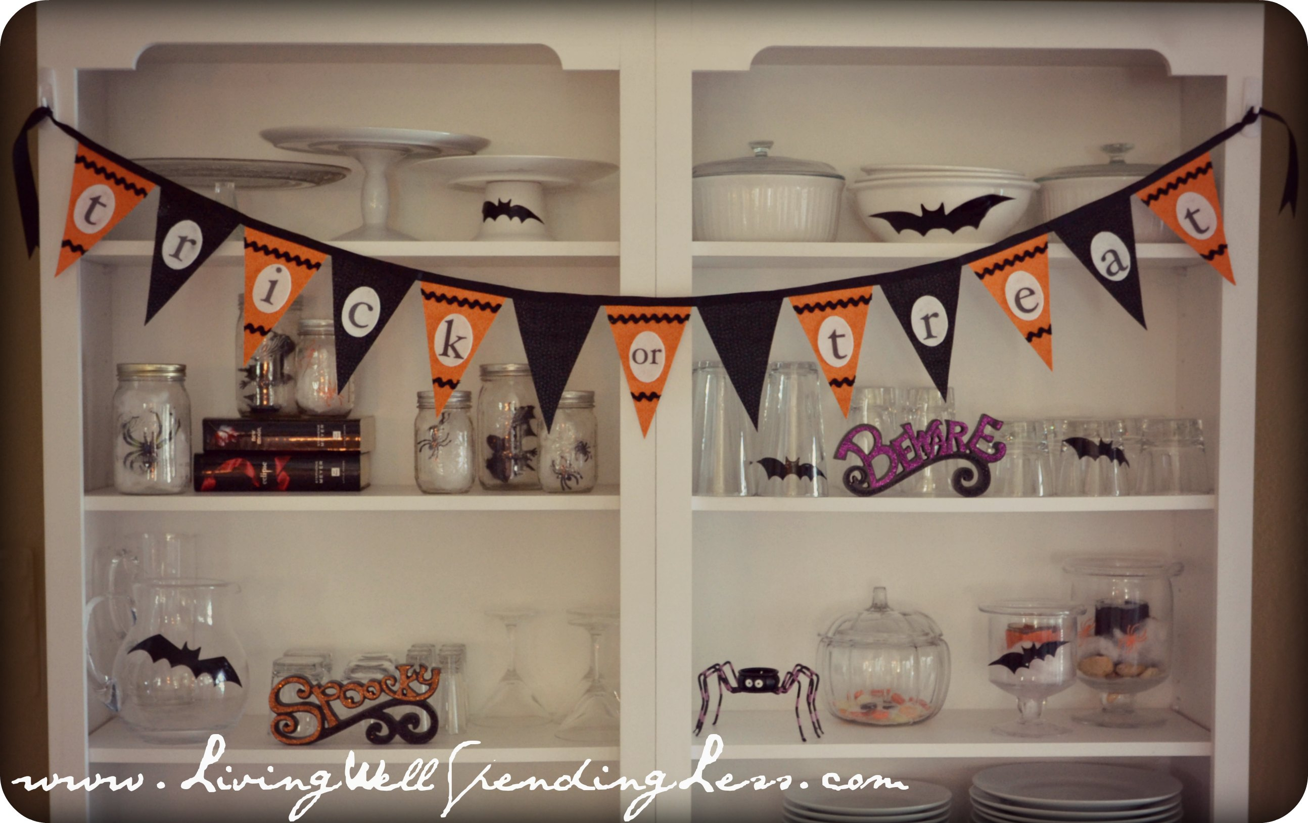 Halloween Bunting halloween garland crochet bunting fall party decoration wall hanging home decor Save