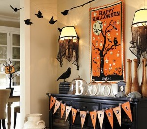 Pottery Barn Inspired No-Sew Halloween Bunting