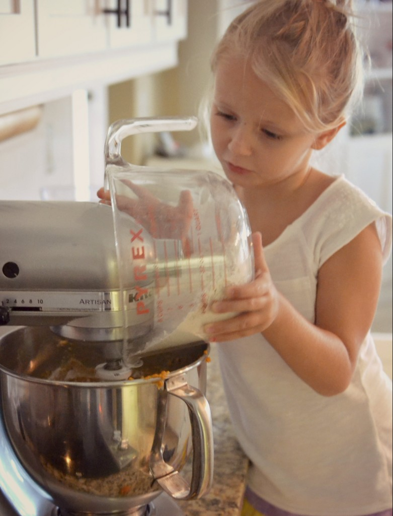 Make sure the wet and dry ingredients are well blended!