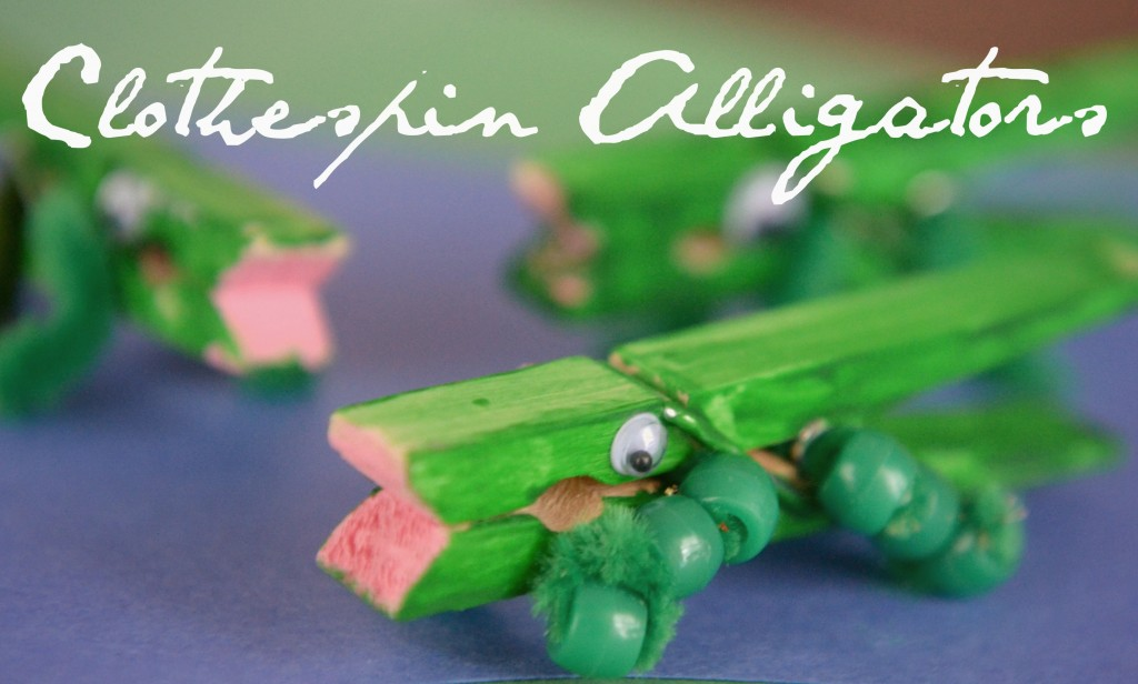 This clothespin alligator is one of the easiest DIY crafts that you can make with supplies you probably already have laying around your house