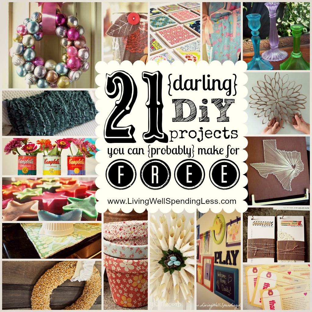 Darling DiY Projects You Can Probably Make For Free Love These Ideas