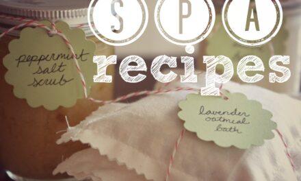 Homemade Spa Recipes {Day 19}