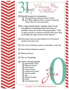 To help keep you organized, here is the Cleaning Prep Checklist!